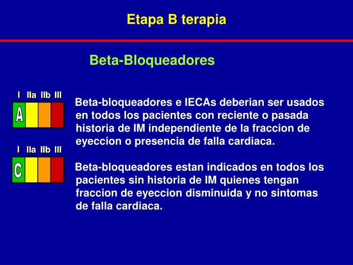 Etapa B terapia