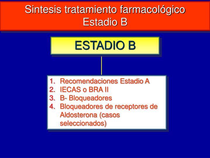 Sintesis tratamiento farmacológico