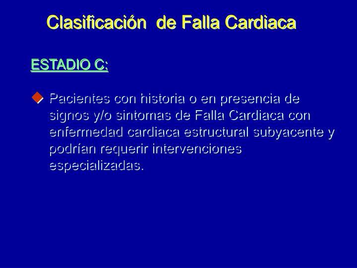 Clasificación  de Falla Cardiaca