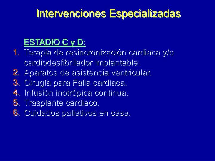 Intervenciones Especializadas