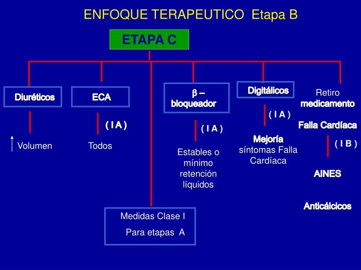 ENFOQUE TERAPEUTICO  Etapa B
