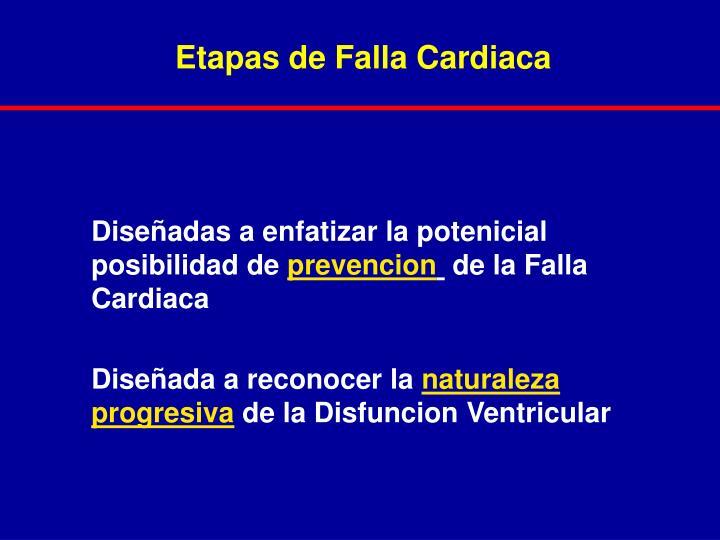 Etapas de Falla Cardiaca