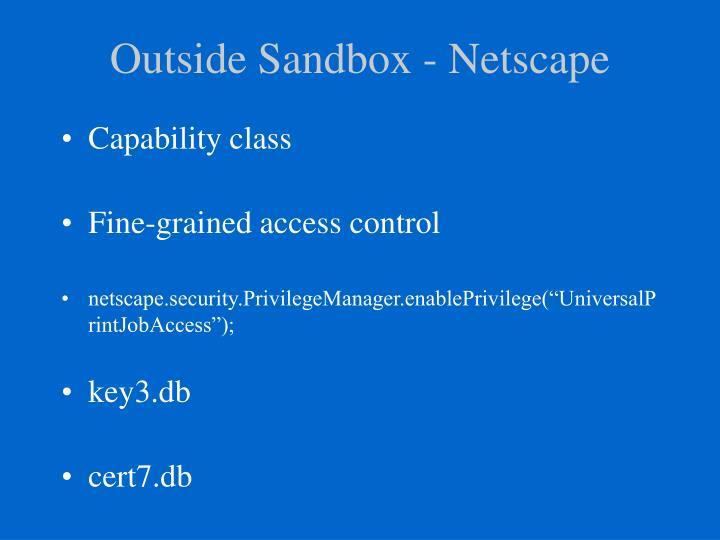 Outside Sandbox - Netscape