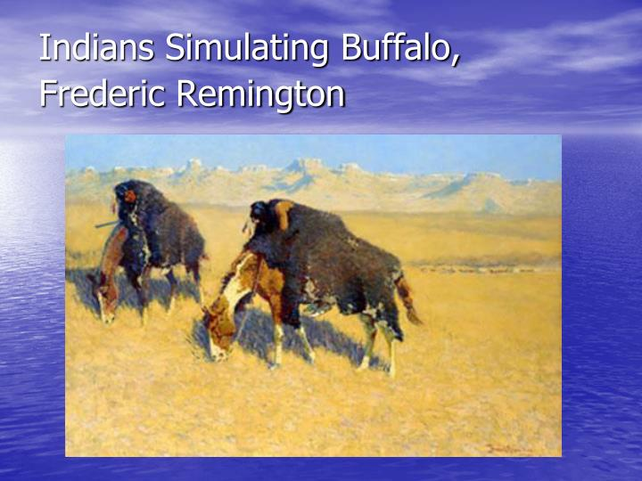 Indians Simulating Buffalo,
