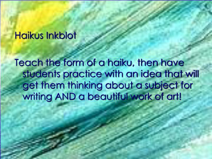 Haikus Inkblot