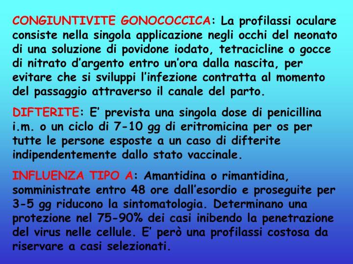 CONGIUNTIVITE GONOCOCCICA