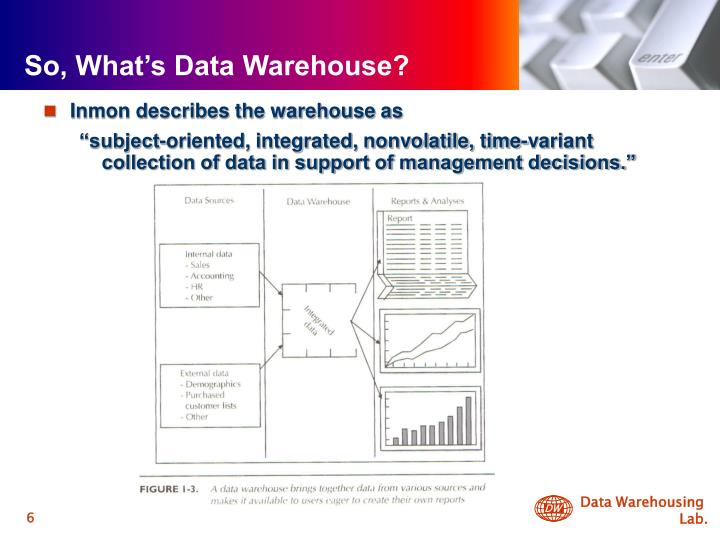 So, What's Data Warehouse?