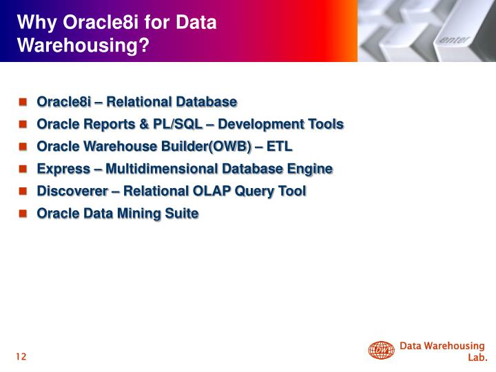 Why Oracle8i for Data Warehousing?