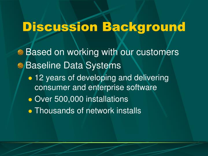 Discussion Background