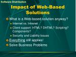 impact of web based solutions