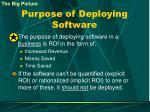 purpose of deploying software