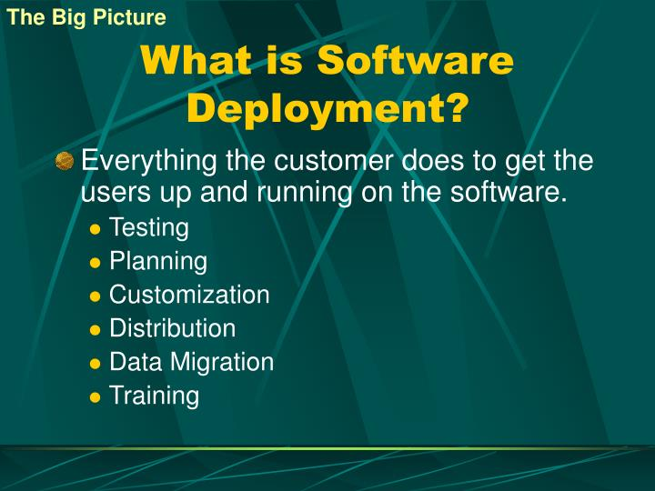 What is software deployment
