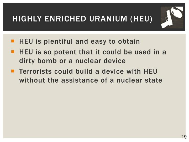 Highly Enriched Uranium (HEU)