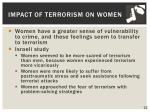 impact of terrorism on women