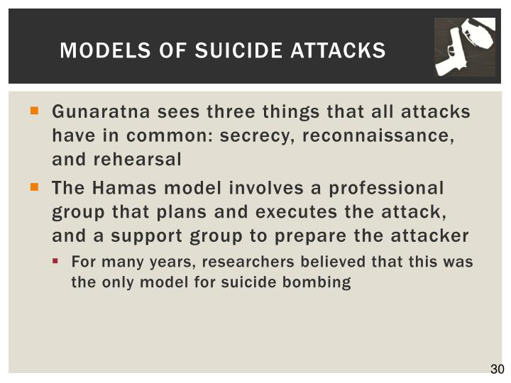 Models of Suicide Attacks