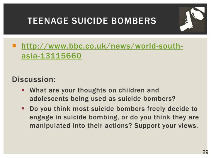 Teenage Suicide Bombers
