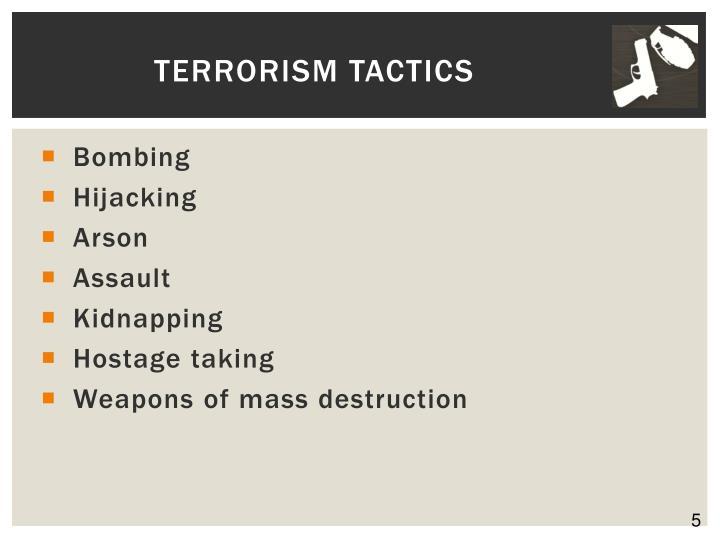 Terrorism Tactics
