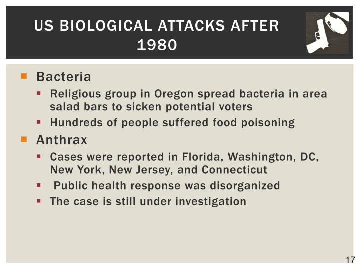US Biological Attacks after 1980