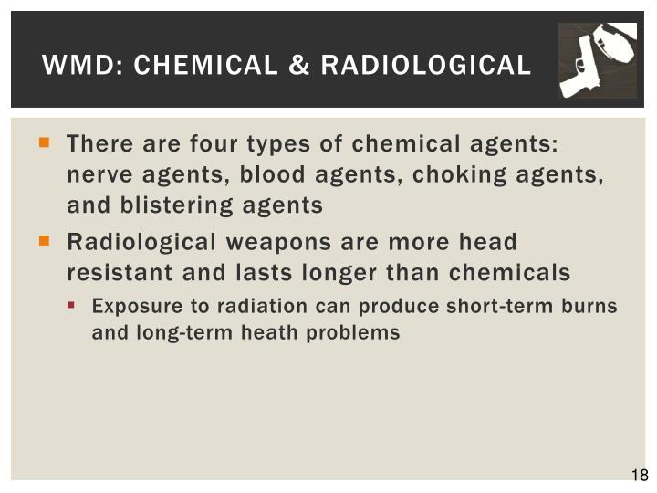 WMD: Chemical & Radiological