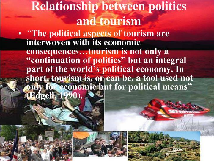 Relationship between politics and tourism