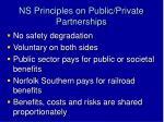 ns principles on public private partnerships