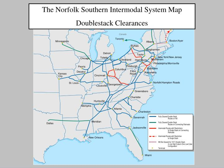 The Norfolk Southern Intermodal System Map