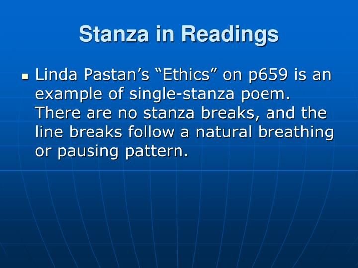 Stanza in Readings