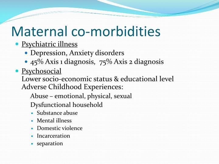 Maternal co-morbidities