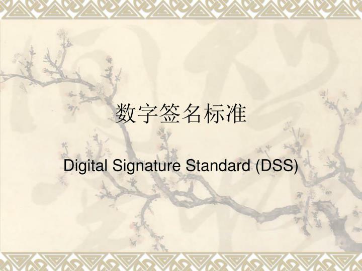 数字签名标准