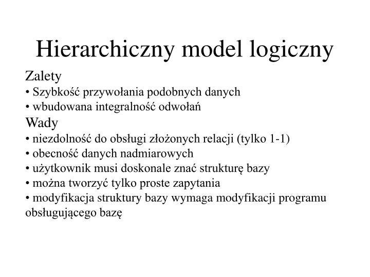 Hierarchiczny model logiczny