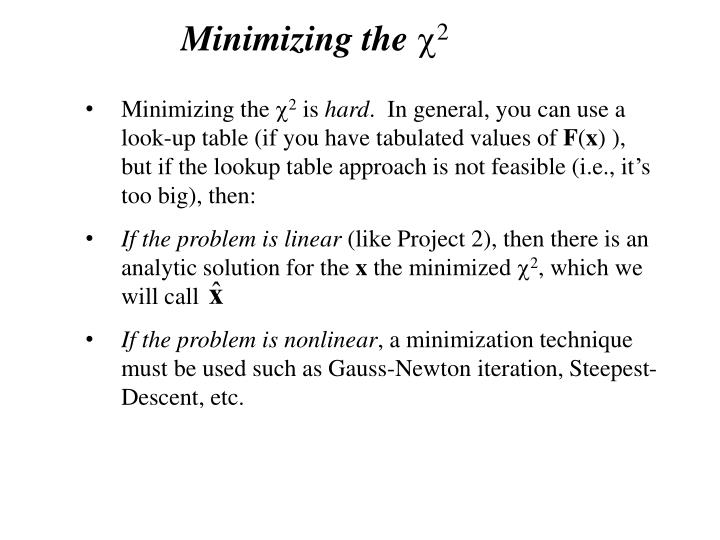 Minimizing