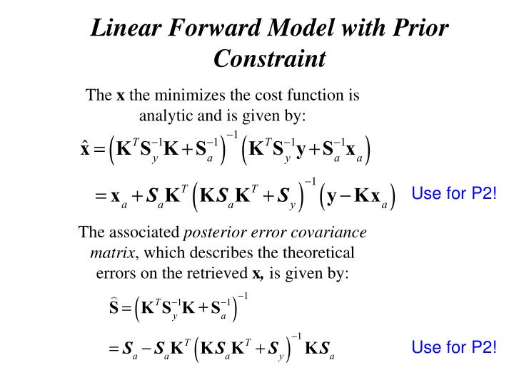 Linear Forward Model with Prior Constraint