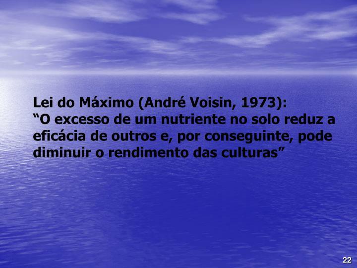 Lei do Máximo (André Voisin, 1973):