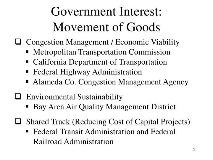 Government Interest: