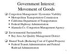 government interest movement of goods