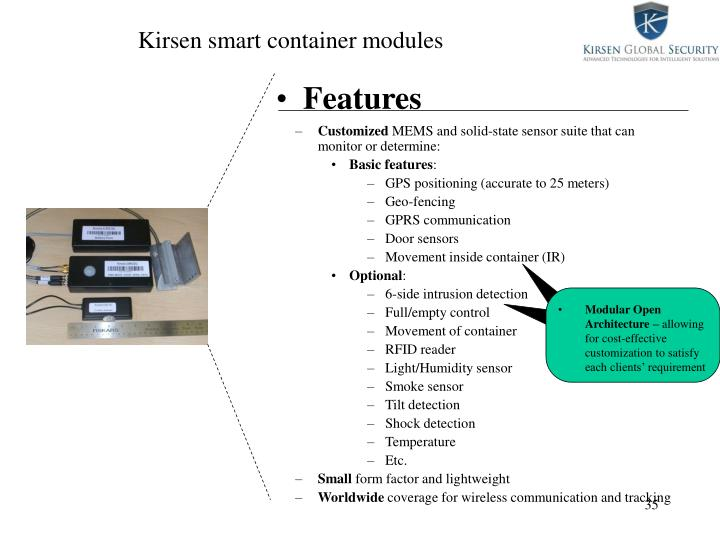 Kirsen smart container modules