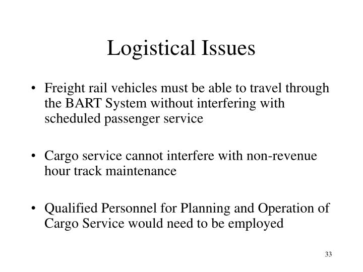 Logistical Issues