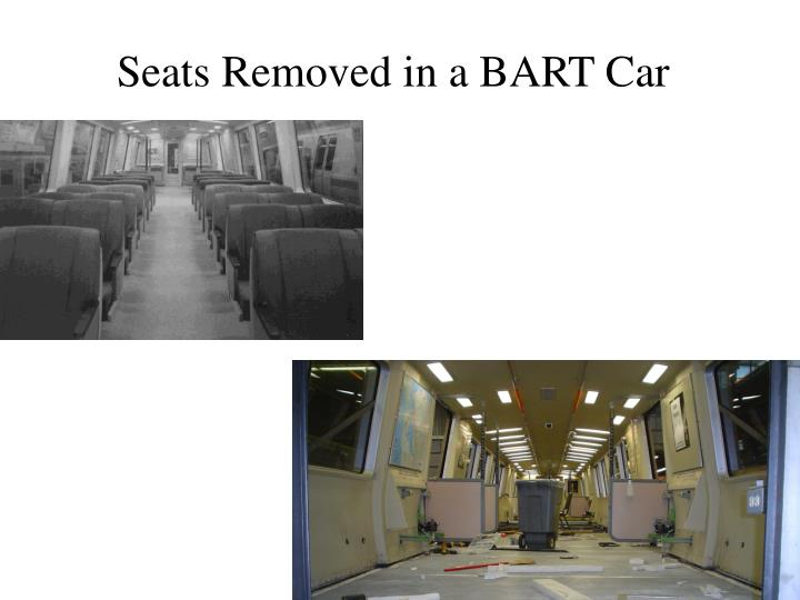 Seats Removed in a BART Car