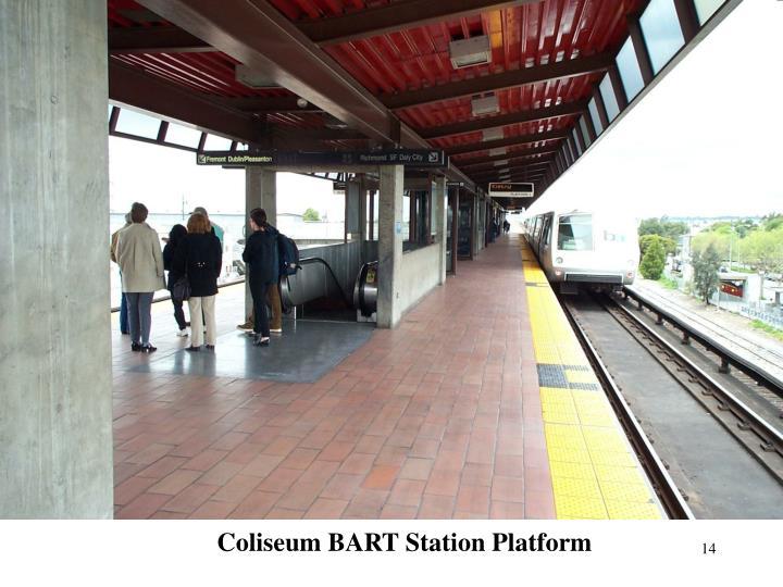 Coliseum BART Station Platform