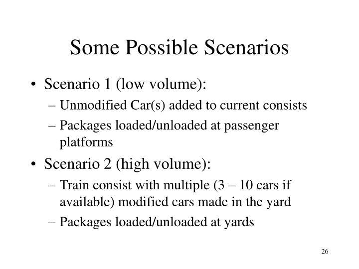 Some Possible Scenarios