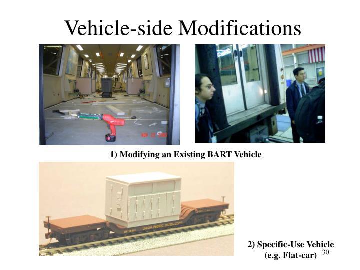 1) Modifying an Existing BART Vehicle