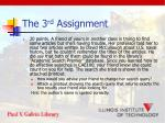 the 3 rd assignment2