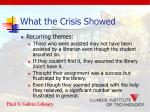 what the crisis showed2