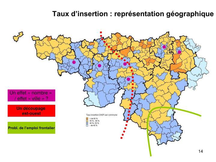 Taux d'insertion : représentation géographique