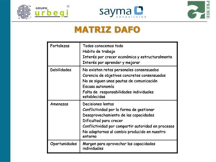 MATRIZ DAFO