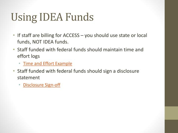 Using IDEA Funds