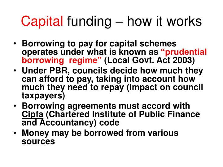 Capital funding how it works
