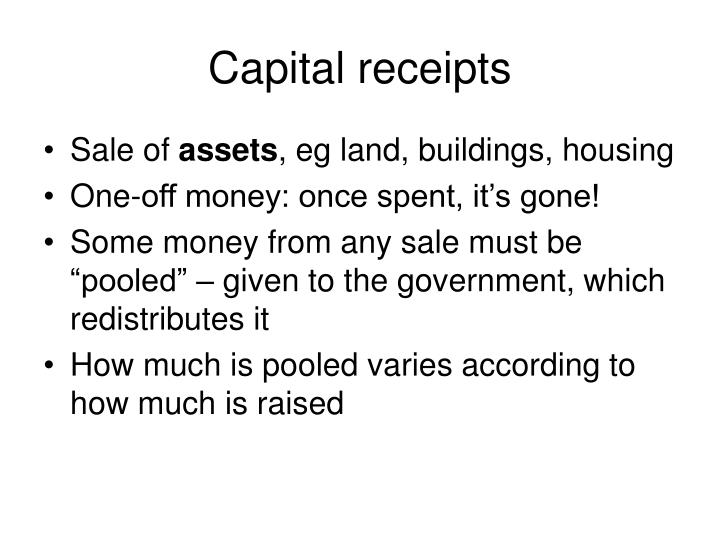 Capital receipts