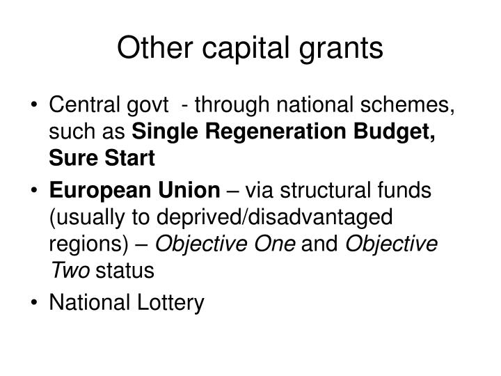 Other capital grants