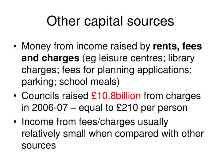 Other capital sources